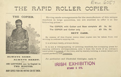 Advert for the Rapid Roller Copier